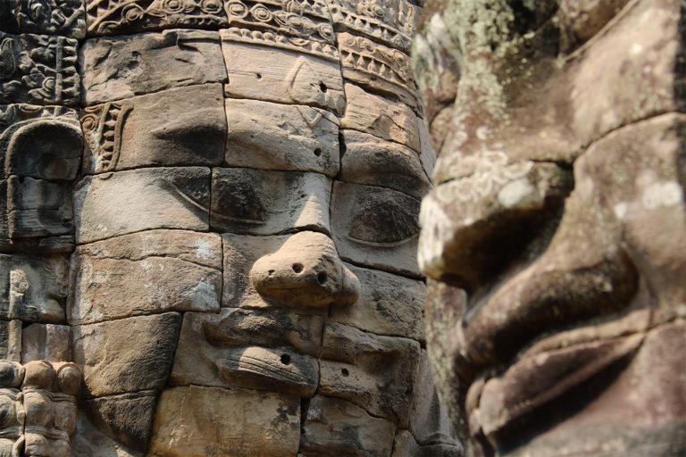 Chrám Bayon v Angkore