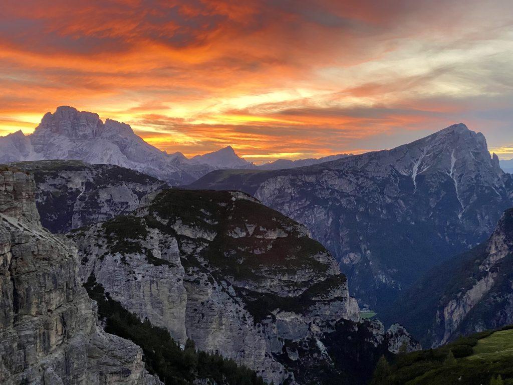 Dolomity sú preslávené svojimi západmi slnka